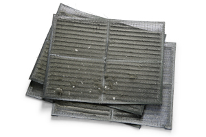 Dusty air conditioner filter