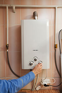 Adjusting water heater