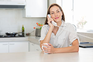 Woman on a call